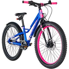 s'cool faXe 24 7-S Rower dziecięcy  różowy/niebieski